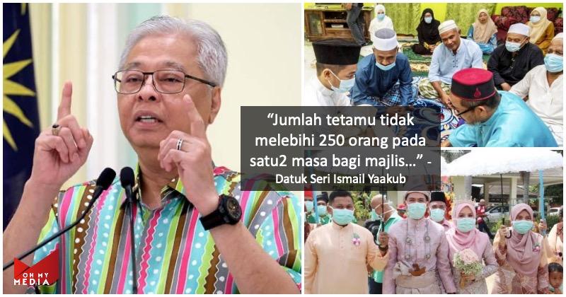 Majlis kahwin, tunang & nikah hanya boleh jemput 250 orang tetamu sepanjang PKPP
