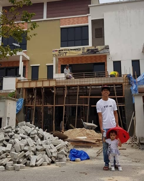 10 tahun kerja keras, Achey bersyukur rumah baru sedia didiami