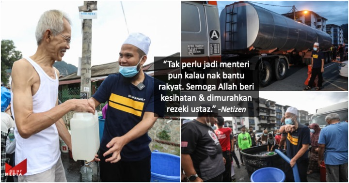 Beli 2 lori besar air, Ebit Lew agih air bersih kepada warga Selangor
